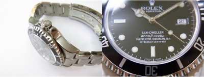 スペシャルな腕時計として。脅威の1220m防水と拡大窓無しのデザイン。rolex sea-dweller